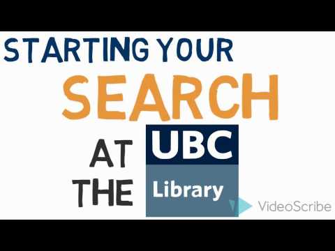 Research Skills Tutorial – Starting Your Search