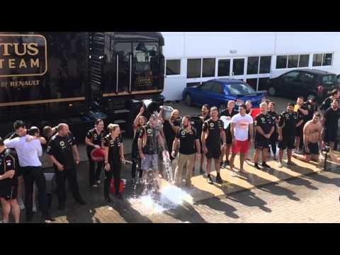 Lotus F1 Team Take On The ALS Ice Bucket Challenge