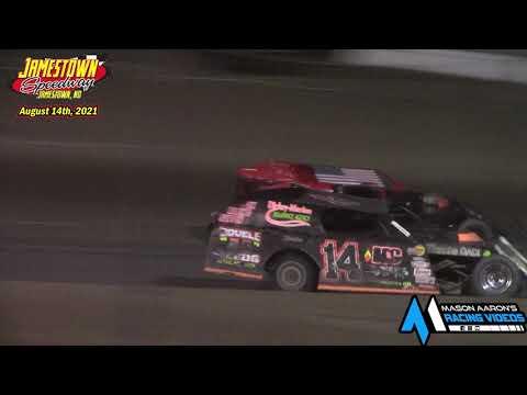 Jamestown Speedway IMCA Modified A-Main (8/14/21) - dirt track racing video image