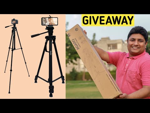 Best Tripod for Mobile   Agaro Camera Tripod 66 Inch With Smartphone Holder Unboxing & Giveaway