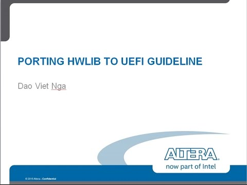 UEFI HwLib Porting Part1