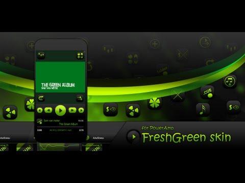 Poweramp FreshGreen Skin 1 0 4 Download APK for Android