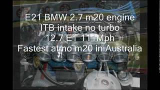 black e21 Bmw fast atmo m20b27 stroker 12.7et 111mph (179 Kph)