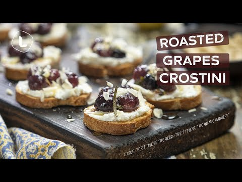 Roasted Grapes Crostini | Easy Vegetarian Appetizer | Food Channel L Recipes
