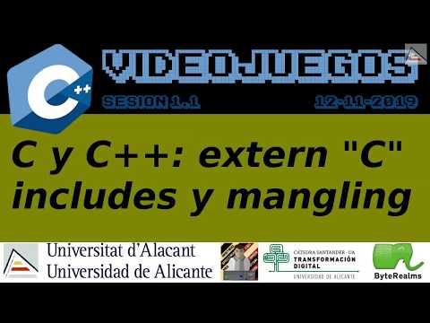 """C y C++ : Compilación manual, extern """"C"""", includes y mangling"""