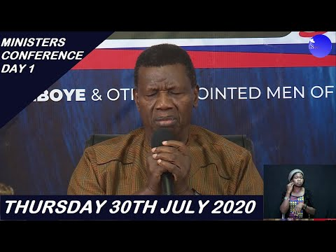 PASTOR E.A ADEBOYE TEACHING  DAY 1 RCCG MINISTERS CONFERENCE