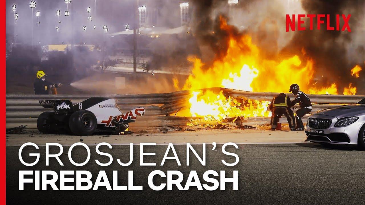 Grosjean's Insane Fireball Crash | Formula 1: Drive To Survive S3