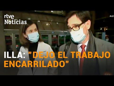 SALVADOR ILLA vive sus últimas horas como MINISTRO de SANIDAD | RTVE Noticias