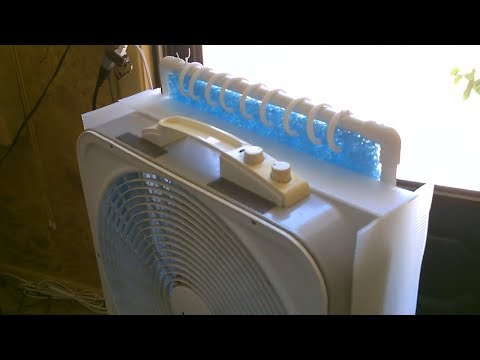 """DIY Evap Air Cooler Upgrade! - Make a """"plastic shroud"""" for my New Large Area Cooler - Xtra Cooling!"""