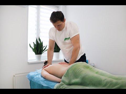 Боль в грудном отделе, под лопаткой, головокружение. Массаж спины и шеи. Massage the back and neck. photo