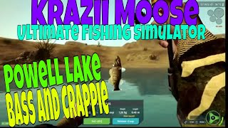 Ultimate Fishing Simulator 2019 Powell Lake  Bass and Crappies