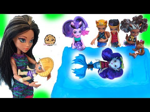 Brother + Sister + Baby Monster High Family Dolls + Slurping Slime Toys - UCelMeixAOTs2OQAAi9wU8-g