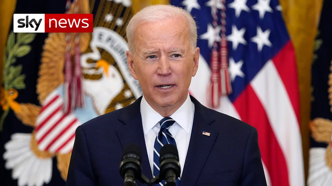 President Biden holds his first official news conference since taking office