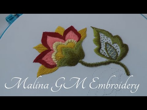 Wool Embroidery Flower Fantasy | Jacobin Embroidery | Crewelwork