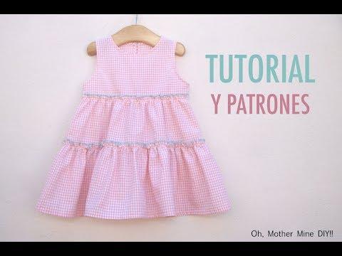 Aprender a coser: Vestido volantes niñas (patrones gratis)