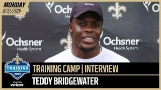 Teddy Bridgewater Staying Motivated at Saints Training Camp | New Orleans Saints
