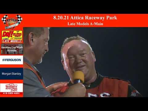 8.20.21 Attica Raceway Park Late Models A-Main - dirt track racing video image