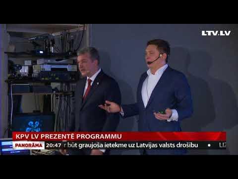 KPV LV prezentē programmu