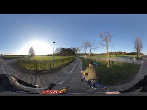 360 Cycling from Groesbeek to Nijmegen (Netherlands) photo