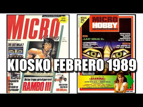 MICROMANIA Y MICROHOBBY FEBRERO 1989: KIOSKO