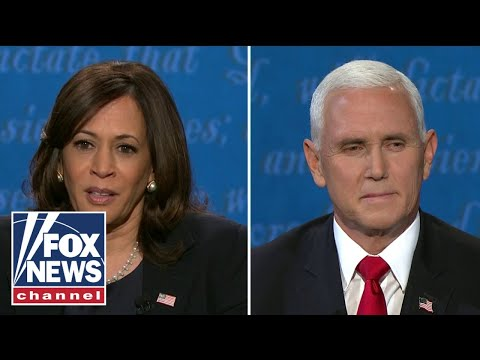 Pence presses Harris on why she cosigned the Green New Deal