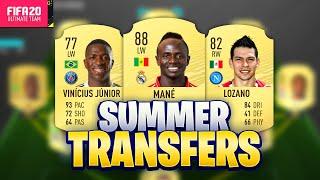 FIFA 20 SUMMER TRANSFERS! CONFIRMED DEALS & RUMOURS! w/ MANE, LOZANO, VINICIUS JUNIOR & MORE!