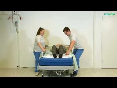 Use the 4D DrawSheet Midi to provide the patient from sliding downwards when sitting in bed