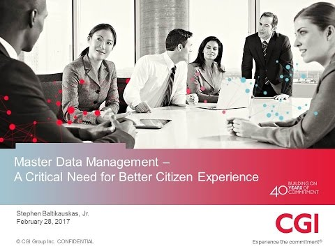 GYI2017 Sn18b: Master Data Management A Critical Need - CGI