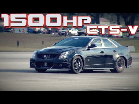 1500HP Cadillac CTS-V WORLD RECORD!