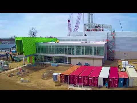 Construction of Holland Energy Park time lapse in Holland, Michigan, USA