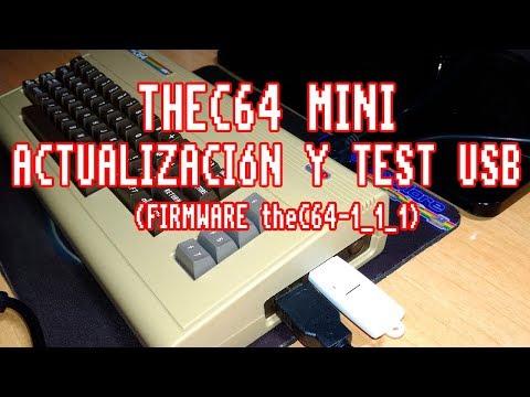 Thec64 mini: Actualización y test usb del nuevo firmware vs1.1.1.