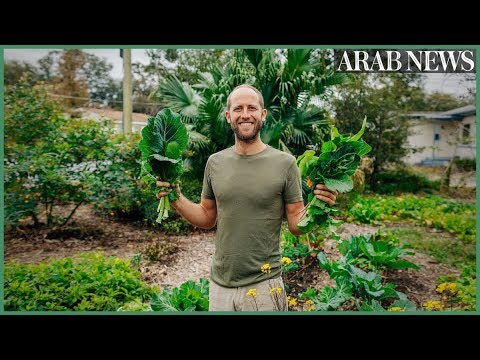 The man who is growing and foraging 100% of his food