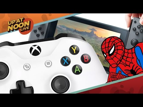 Nintendo Switch's Launch Lineup, Xbox's Biggest Controller Ever & Spidey Toys! - Up At Noon Live!