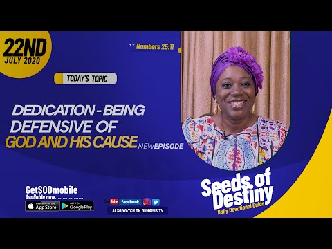 Dr Becky Paul-Enenche - SEEDS OF DESTINY - WEDNESDAY JULY 22, 2020