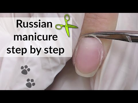 Russian Manicure with Scissors Tutorial | Alternative French Nails