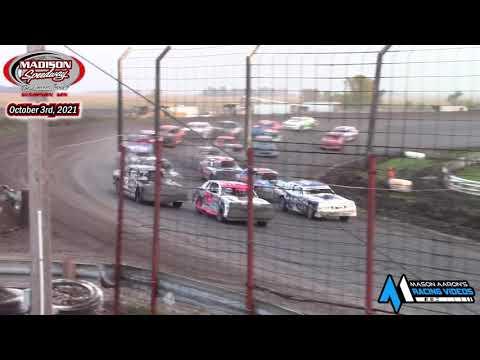 Madison Speedway WISSOTA Street Stock A-Main (Lou's Madtown Showdown Night #2) (10/3/21) - dirt track racing video image