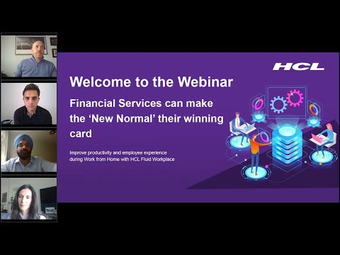 Webinar: Financial Services can make the New Normal their winning card