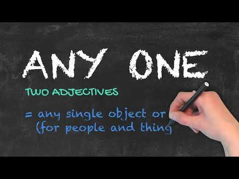 Anyone vs Any One - English Grammar - Teaching Tips