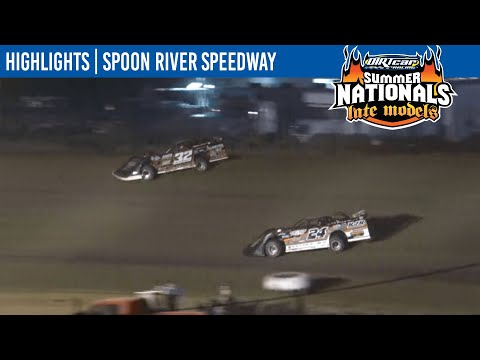 DIRTcar Summer Nationals Late Models Spoon River Speedway July 7, 2021 | HIGHLIGHTS - dirt track racing video image