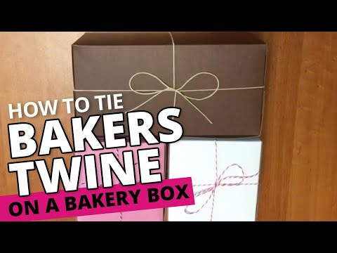 How to Tie a Bakery Box with Twine