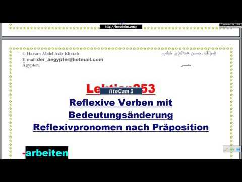 Lektion253 الأفعال-أفعال يتغير معناها عندما تنعكس-تعليم اللغة الألمانية