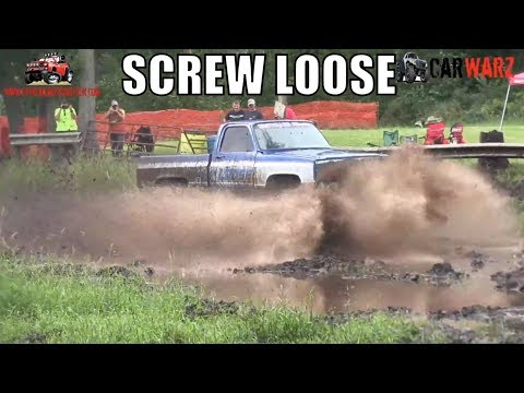 SCREW LOOSE Chevy Mega Truck Mudding At Bentley Lake Road Mud Bog Fall 2018