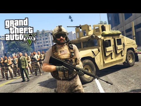GTA 5 PLAY AS A COP MOD - MARTIAL LAW!! MILITARY TAKEOVER