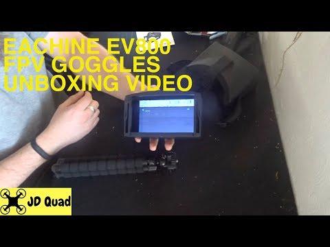 Eachine EV800 FPV Racing Drone FPV Goggles Unboxing Video - UCPZn10m831tyAY55LIrXYYw