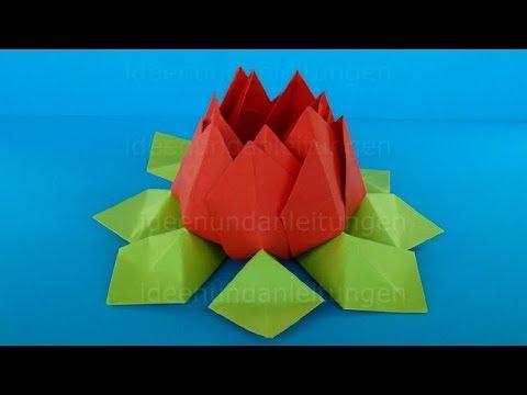 Origami Blume basteln mit Papier. Einfache Bastelideen / Geschenkideen