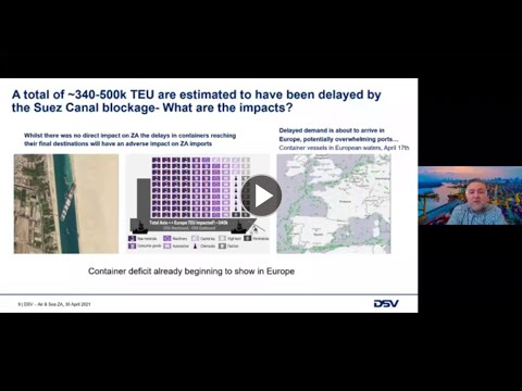 DSV Webinar on May 12, 2021: Impact of COVID-19 on the Air and Sea freight market