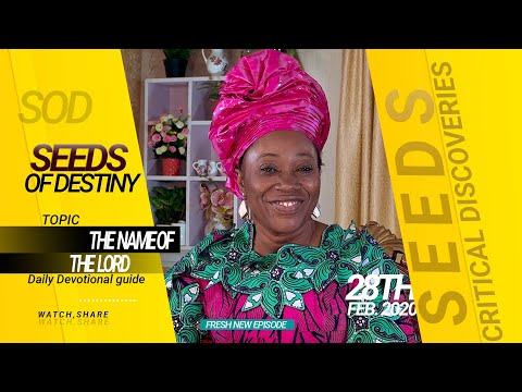 Dr Becky Paul-Enenche - SEEDS OF DESTINY - FRIDAY 28TH FEBRUARY, 2020