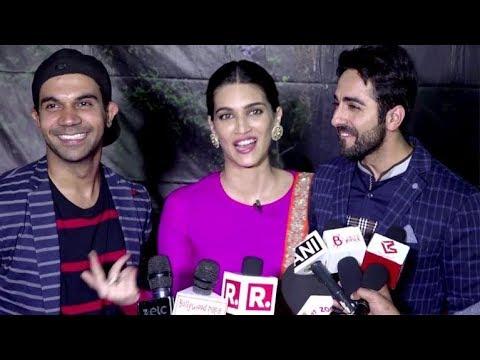 Kriti, Ayushmann & Rajkumar's FUNNY Interaction With The Media
