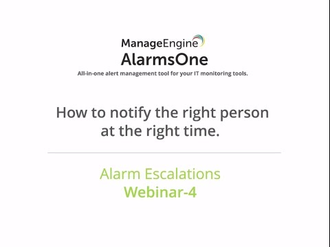 AlarmsOne Webinar: How to notify the right person at the right time