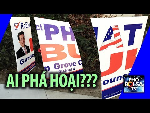 Ai phá hoại bảng tranh cử của các ứng cử viên?